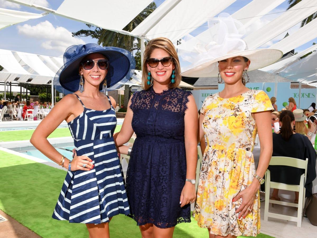Houston, River Oaks and Tootsies tennis tournament luncheon, April 2017, Maria Morales, Sofia Massey, Ofelia Vujasinovic