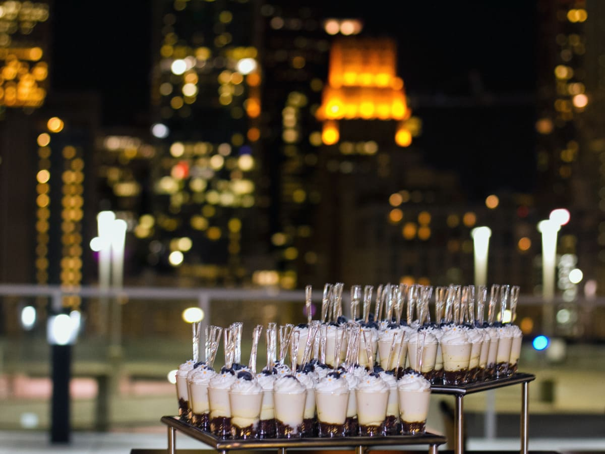 Houston, Marriott Marquis grand opening party, April 2017, desserts