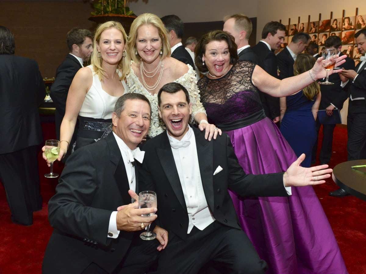 2521 Christie McCartney, from left, David Wuthrich, Joella Mach, Mark Hanson and Tara Wuthrich at the Houston Symphony Centennial Ball after party May 2014