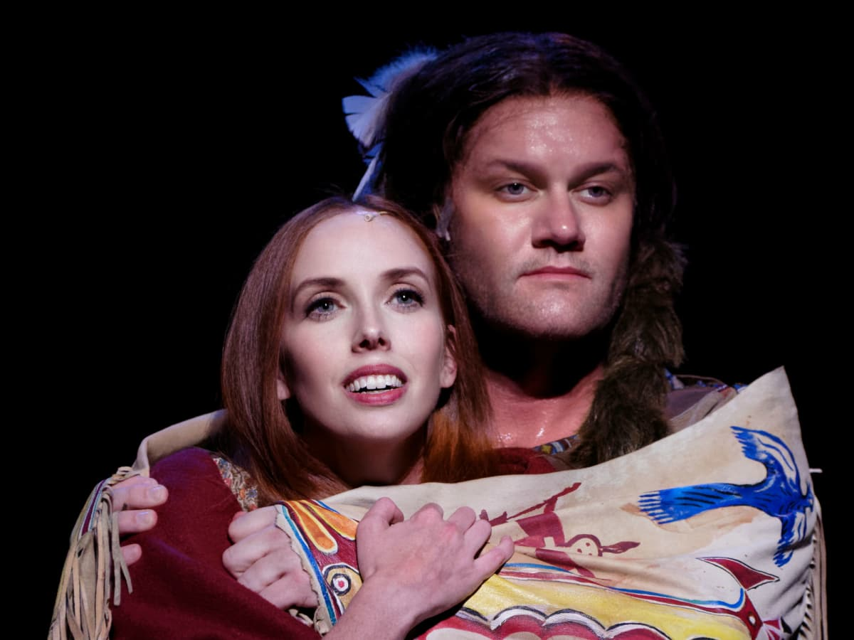 Daron Cockerell and David Phelps in Lyric Stage's Quanah