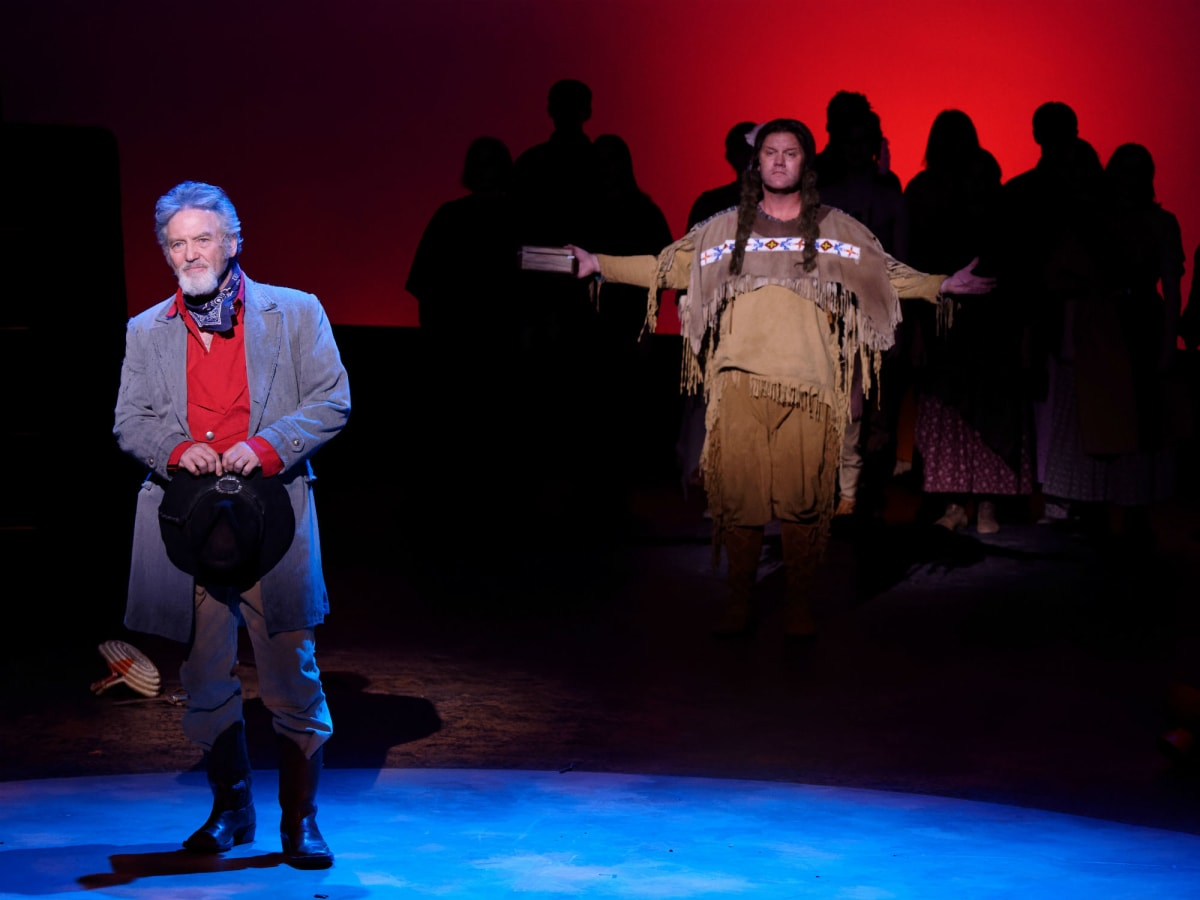 Larry Gatlin and David Phelps in Lyric Stage's Quanah