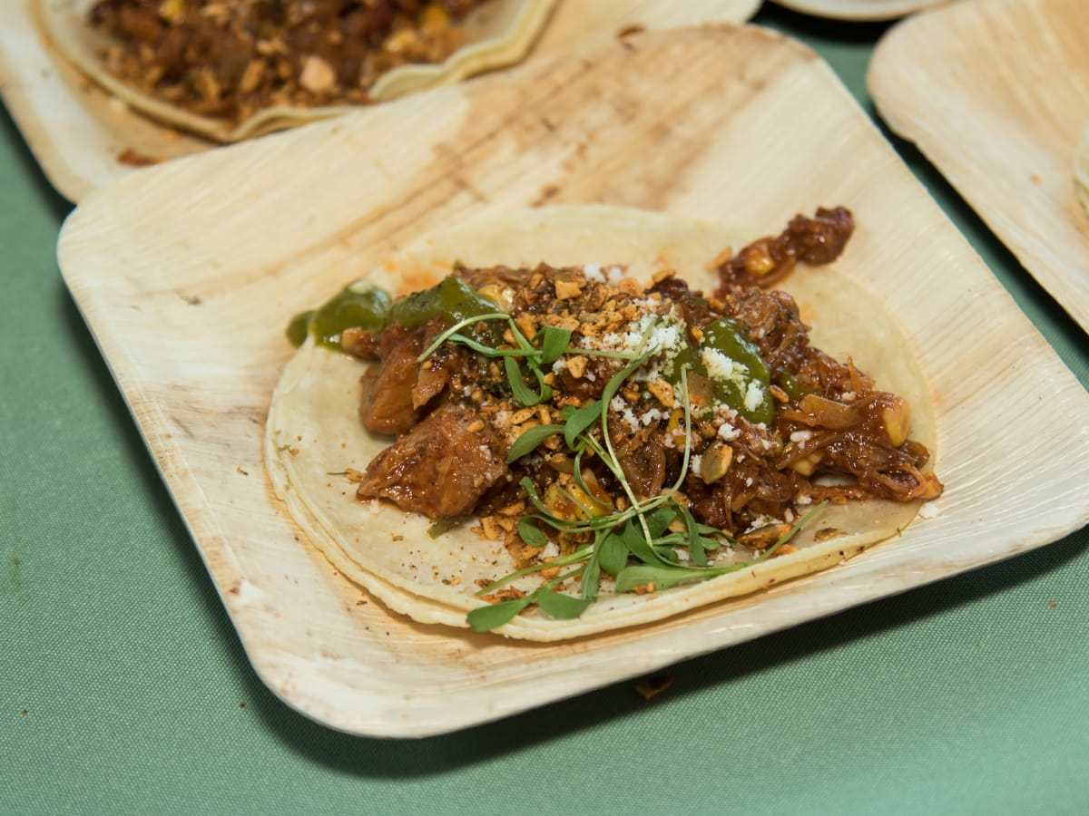 carnitas street tacos, taca party on the green