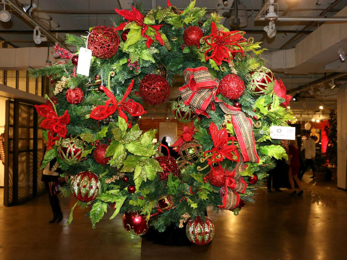 Renaissance wreath at DIFFA/Dallas Holiday Wreath Collection 2016