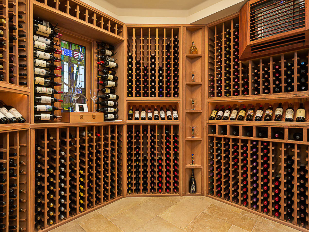 5221 Musket Cove Austin house for sale wine room
