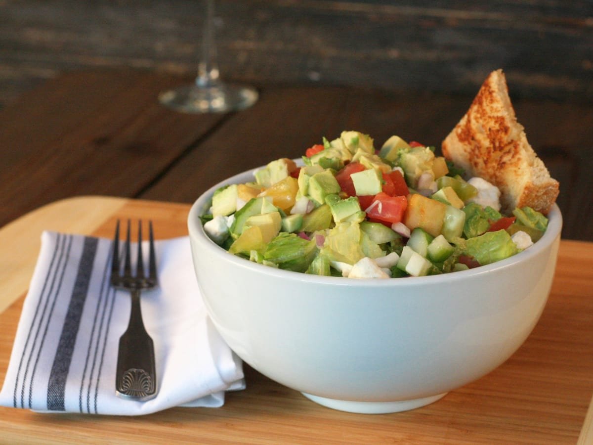 Bosscat Kitchen avocado farm chop salad