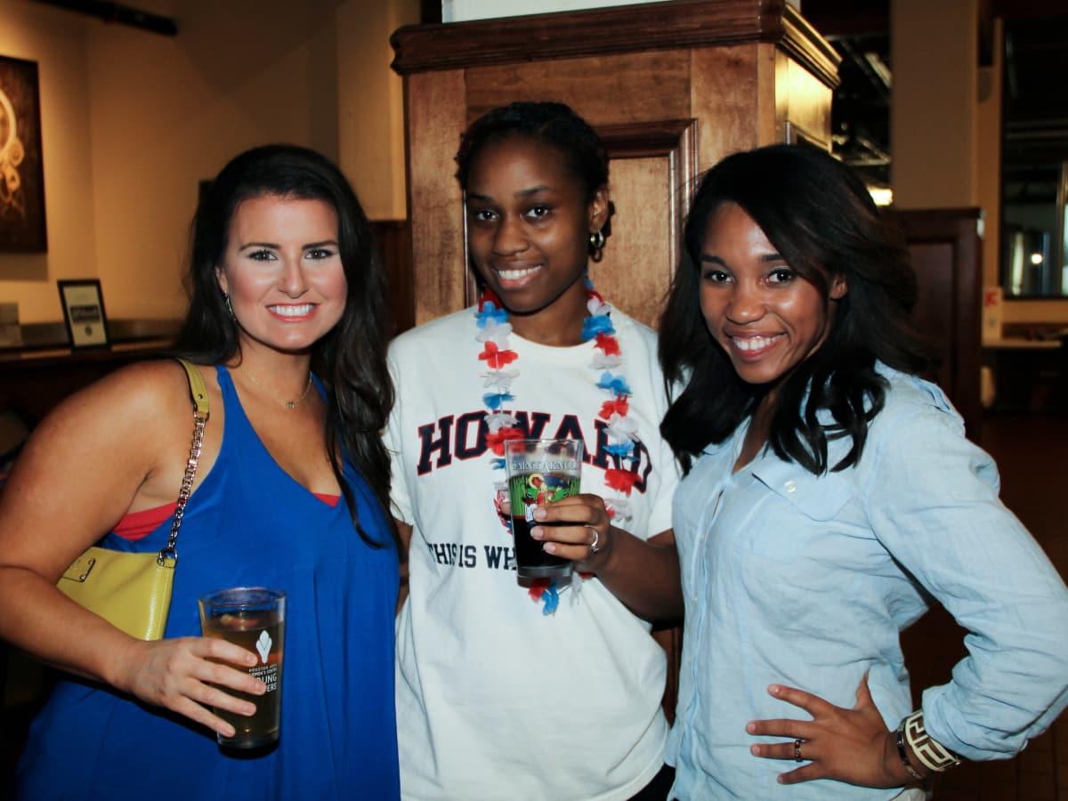 Houston Area Women's Center Young Leaders 7/16  Katelynn McGuire, Ariel Turner, Brittany Darrington
