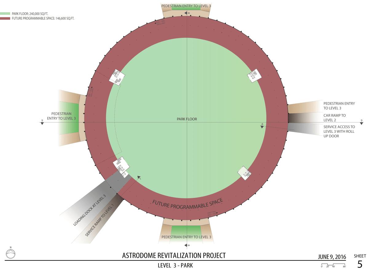 Astrodome parking rendering June 2016