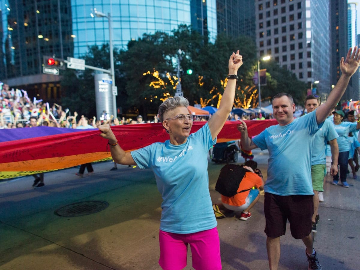 Houston Pride Parade 2016 marchers