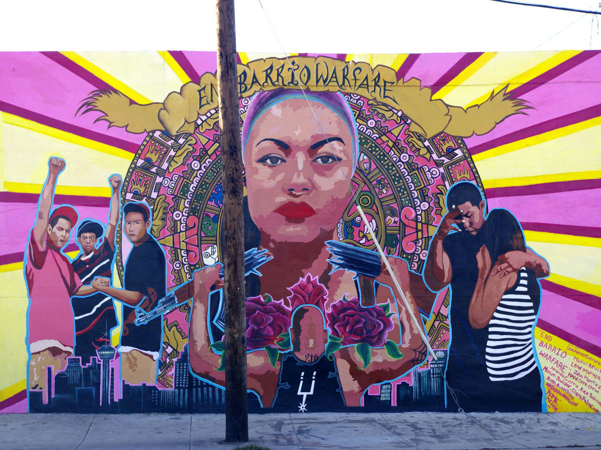End Barrio Warfare Relocation mural San Antonio
