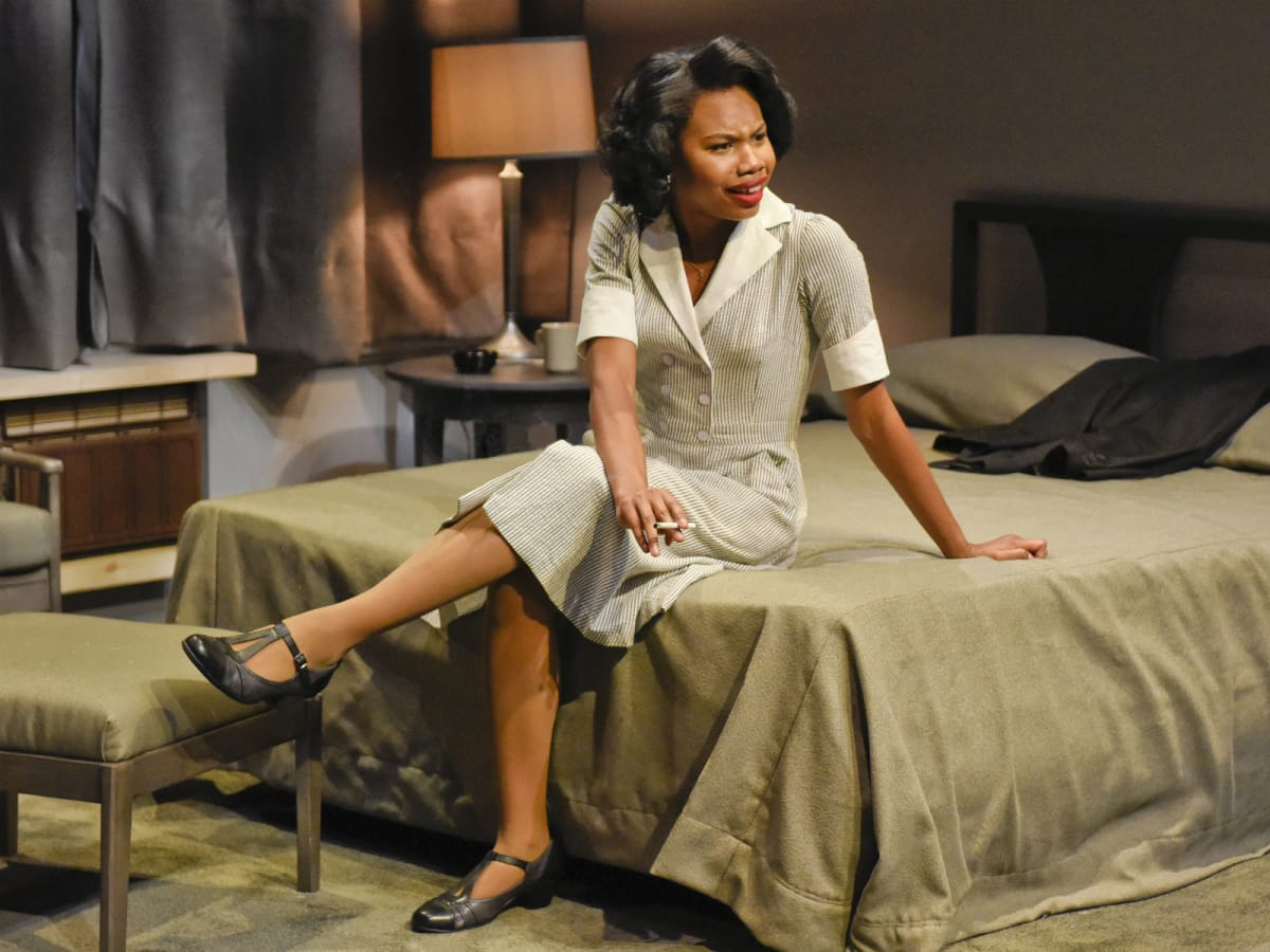 Tiana Kaye Johnson in Dallas Theater Center's The Mountaintop