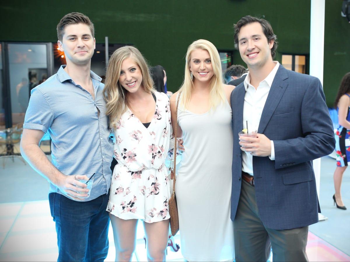 Bar Bleu opening, 6/16,  Mike Schwartz, Avery Rhodes, Mary Kueser, Lucas Fertitta