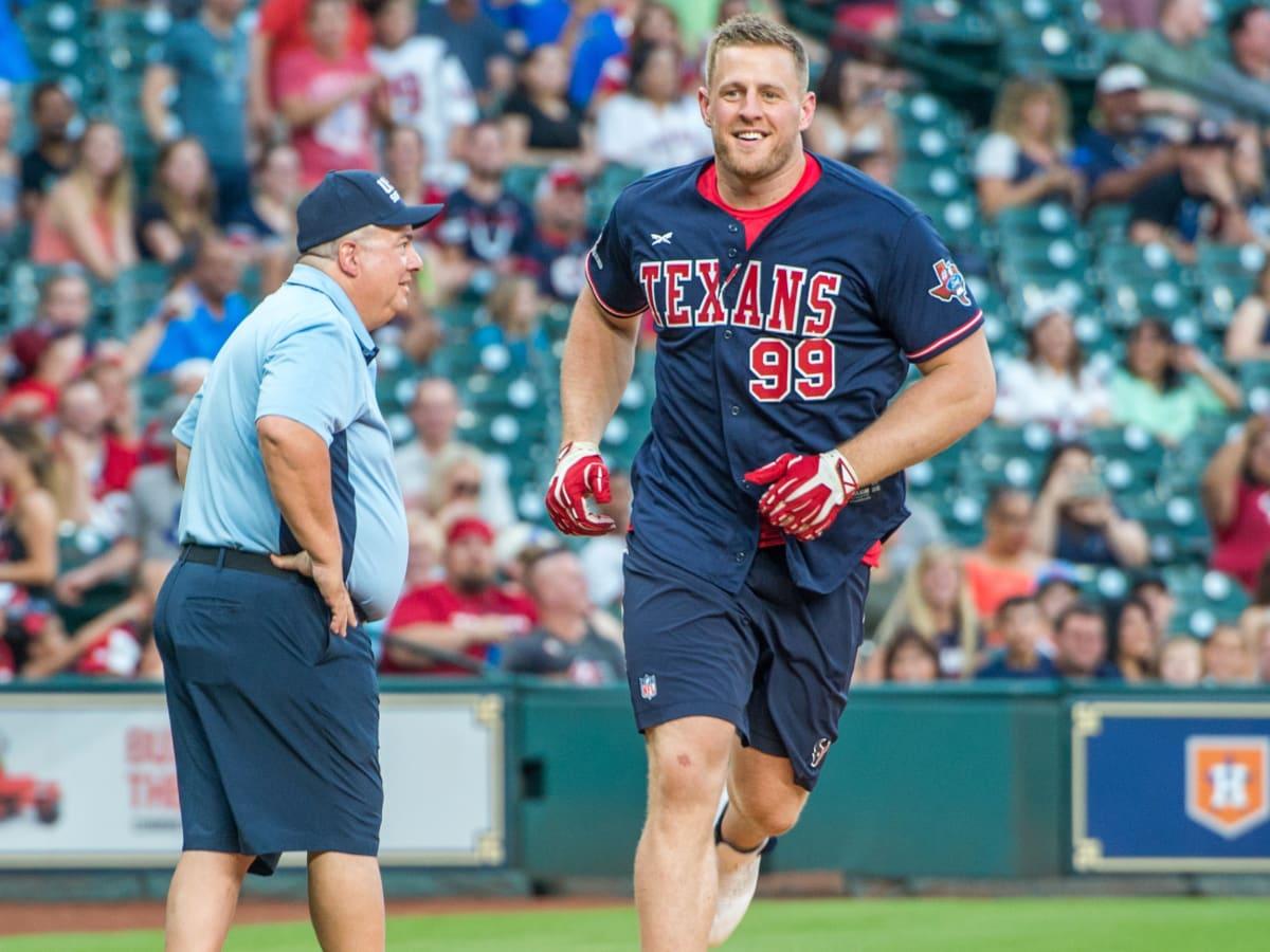 Houston, J.J. Watt Charity Classic, May 2017, JJ Watt hits a home run