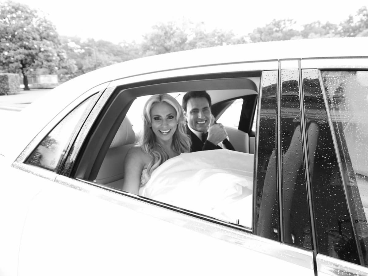 Houston, Chita Johnson wedding, June 2016, getaway car