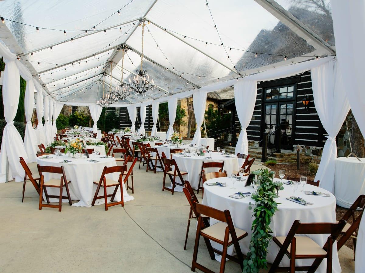 Wedding Maggie Bang and Austen Miller Fredericksburg Boot Ranch tent reception