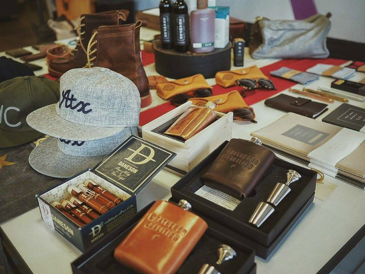 Weathered Coalitiion mens clothing pop-up shop accessories