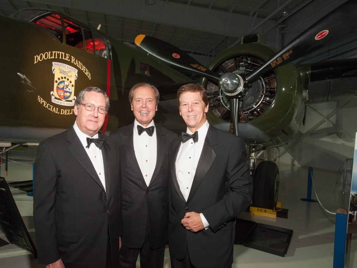 Lone Star Flight Museum gala 5/16 Gene Dewhurst, David Dewhurst, Don Dewhurst