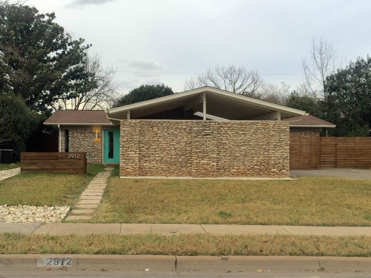 Austin house home Stoneway Drive Allandale Preservation Austin Historic Homes Tour 2016 front exterior