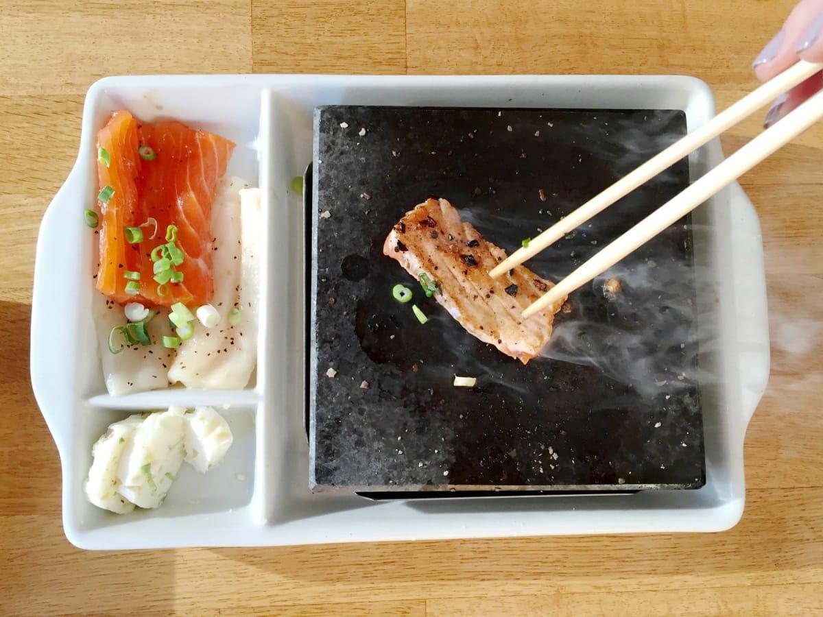 Pacific Rim Sushi & Yakitori Lounge Austin restaurant Japanese hot rock dinner
