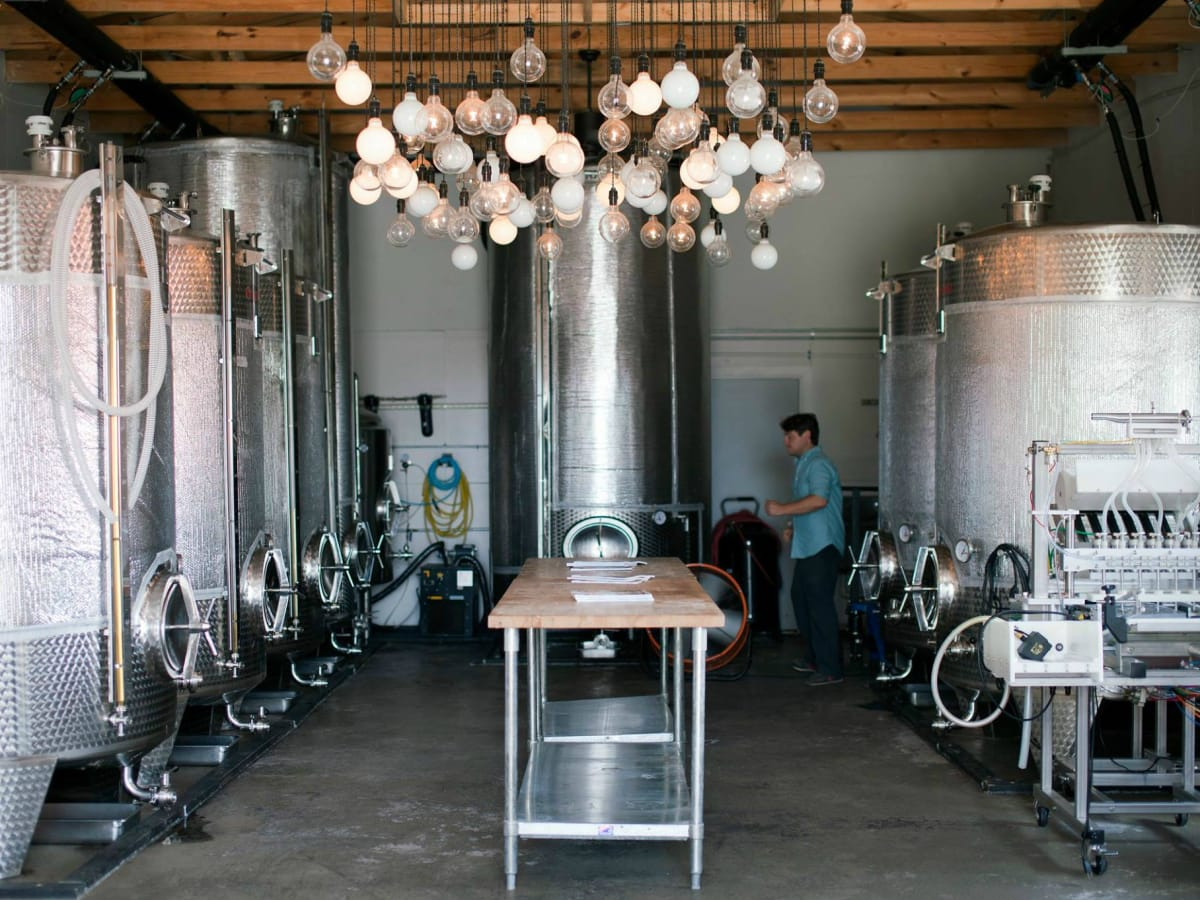 Argus Cidery tanks tasting room