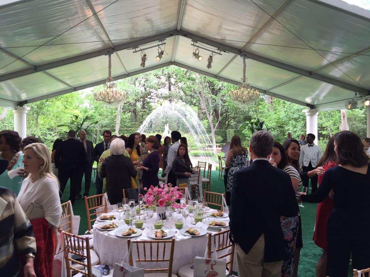 Bayou Bend Luncheon,  setting