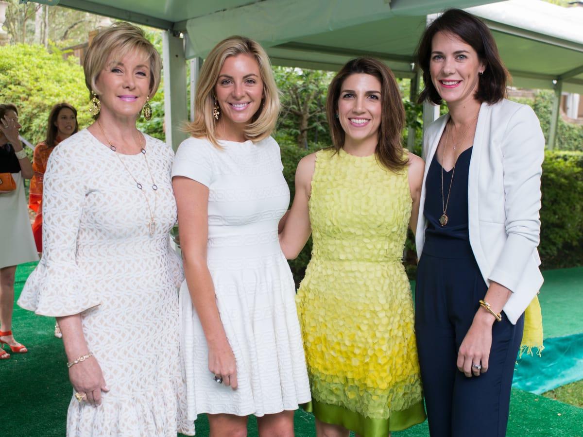 Bayou Bend luncheon, April 2016, Sheridan Williams, Kristen Nix, Neekie Kashani, Helen Wright
