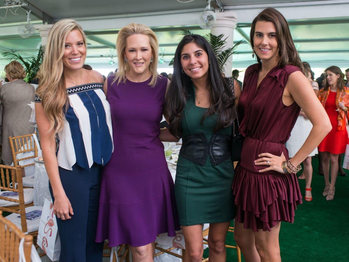 Bayou Bend luncheon, April 2016, Holly Alvis, Kelly Silvers, Mona Sabzevari, Kathryn Swain