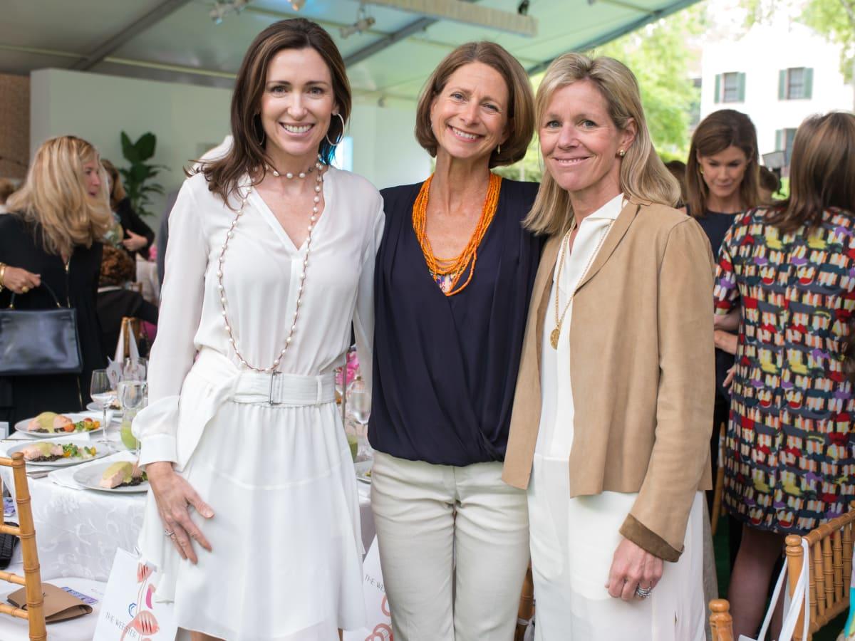 Bayou Bend luncheon, April 2016, Karen Blue, Hillary Gardy, Boo Kennedy
