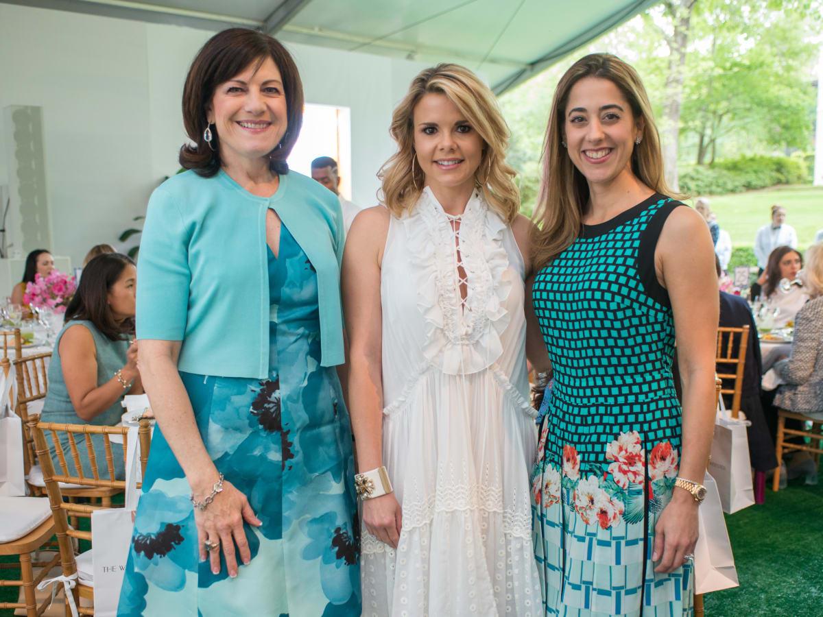 Bayou Bend luncheon, April 2016, Ellie Francisco, Reagan Bauer, Kristina Somerville