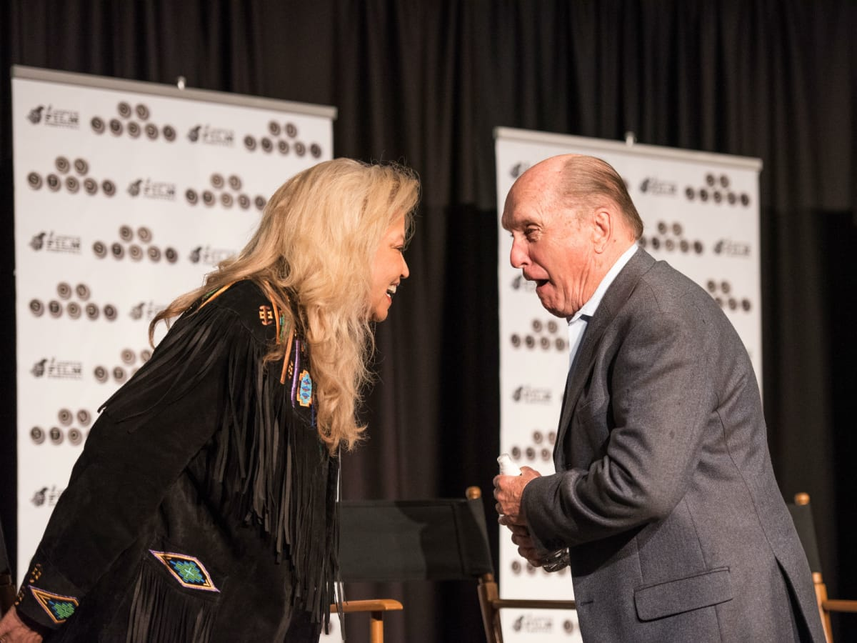Suzanne de Passe and Robert Duvall at Lonesome Dove Reunion
