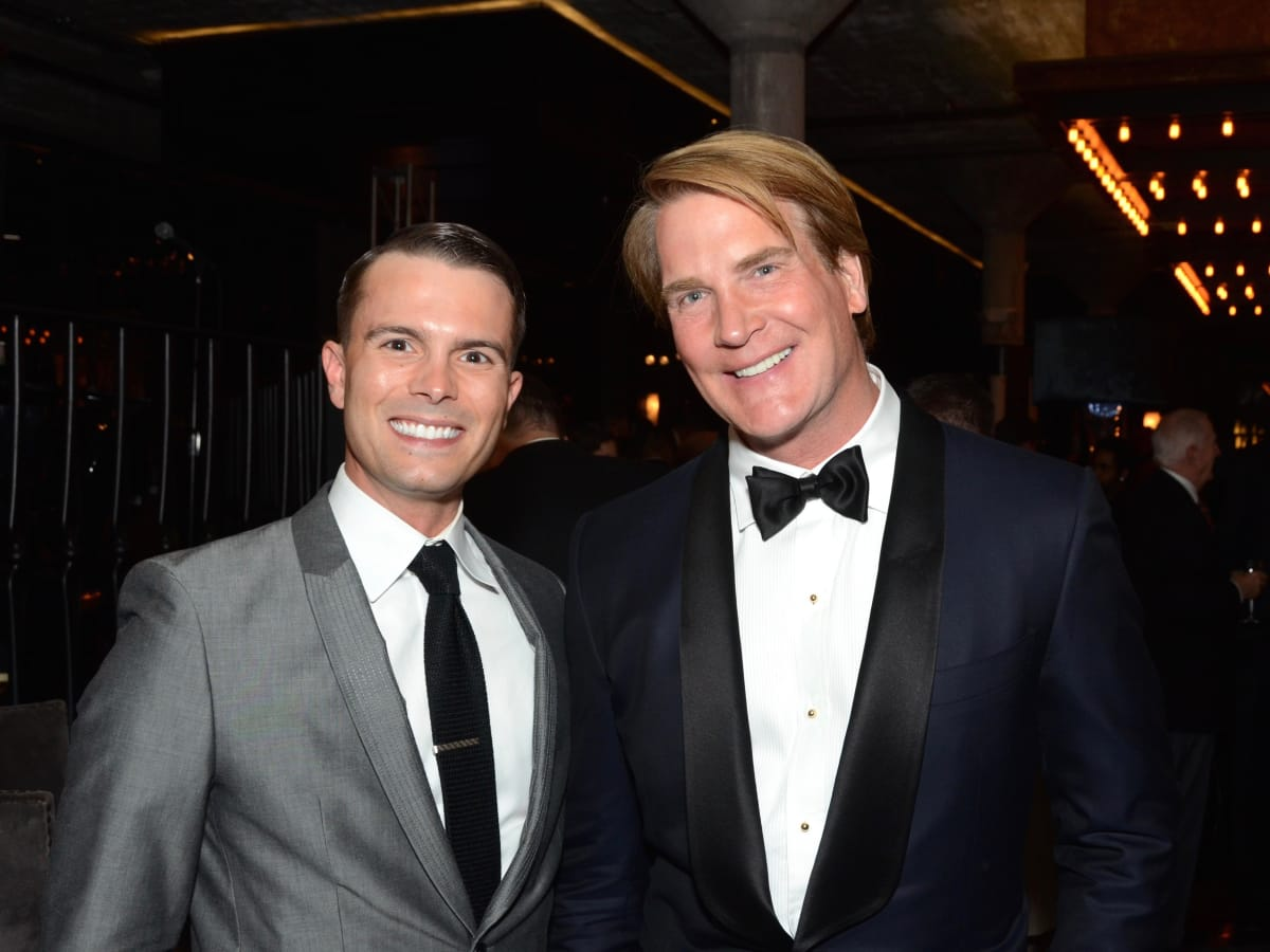 JD Adamson, Stages Board Chairman George Lancaster at Stages Gala