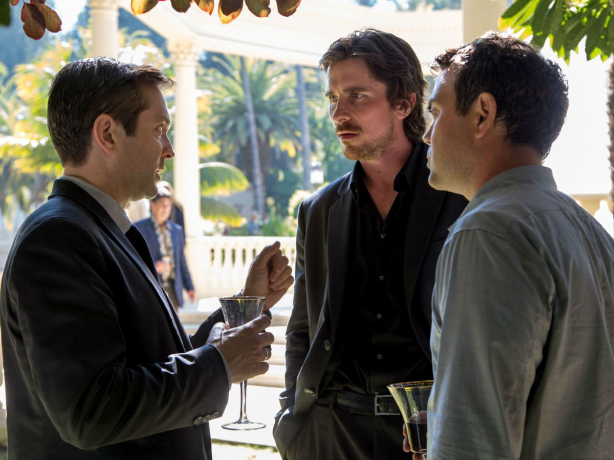 Wes Bentley, Christian Bale, and Brian Dennehy in Knight of Cups