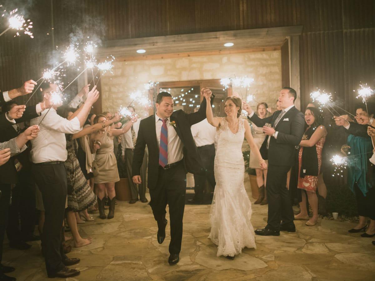 Heritage House wedding sparklers
