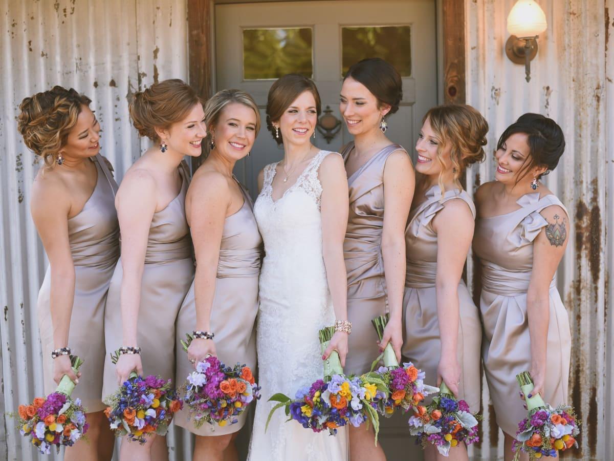 Heritage House wedding bridal party