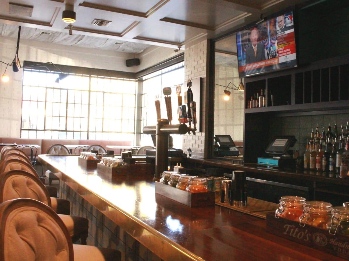 Parlor & Yard bar Dunlap ATX west sixth February 2016 bar