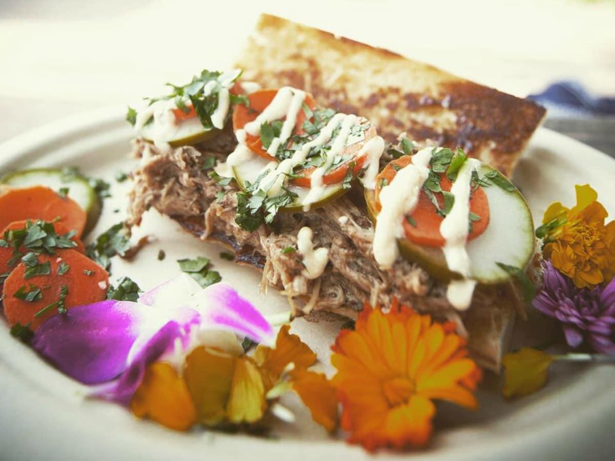Baton Creole food truck Lynzy Moran Abita-braised pork bahn mi