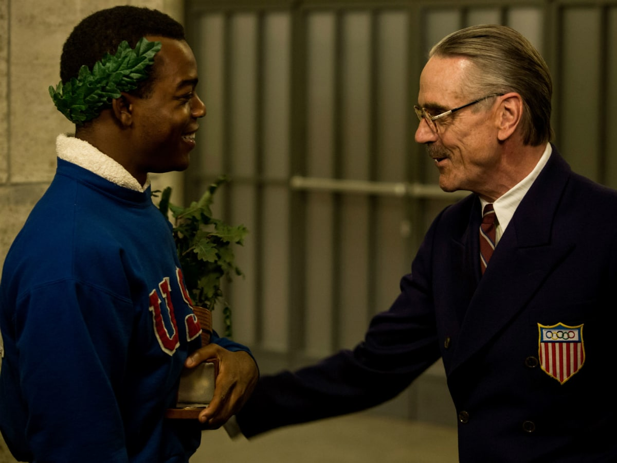 Stephan James and Jeremy Irons in Race