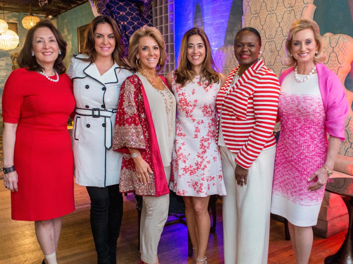 Houston Sweethearts, Feb. 2016, Penny Loyd, Carmina Zamorano, Mary Tere Perusquia, Kristina Somerville, Sheretta West, Anne Richardton