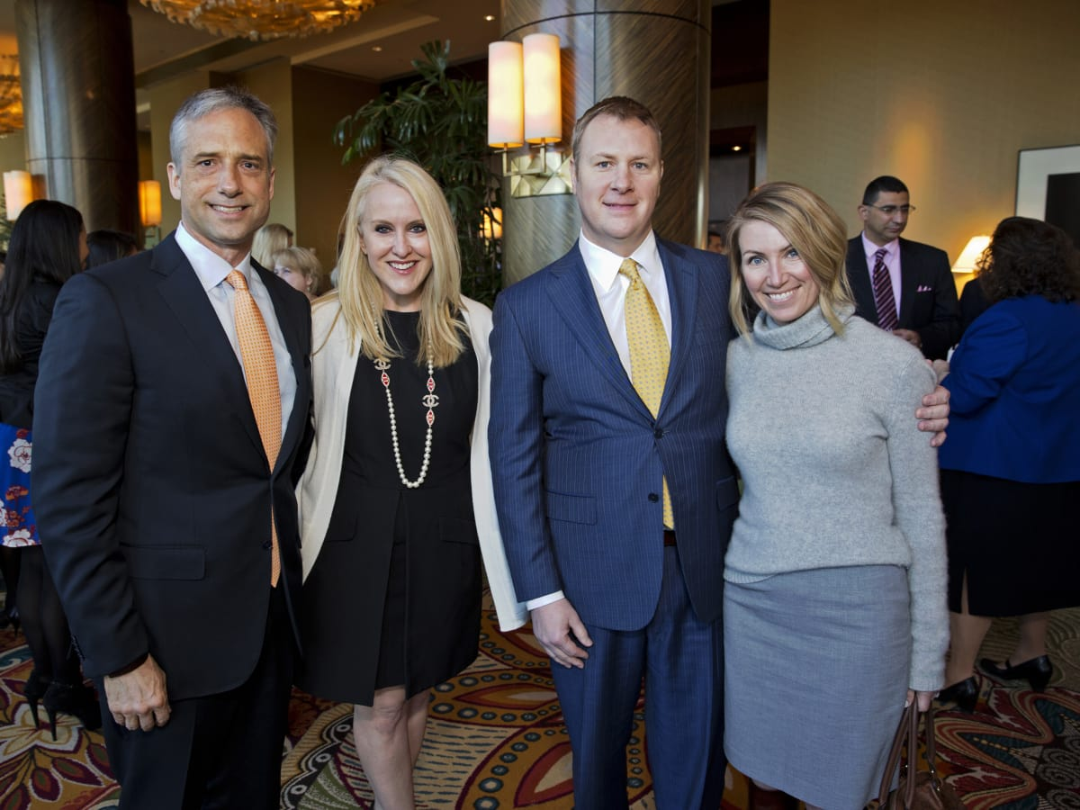 Bo's Place Luncheon, Feb. 2016, Jason West, Jenny West, David Shine Jade Shine