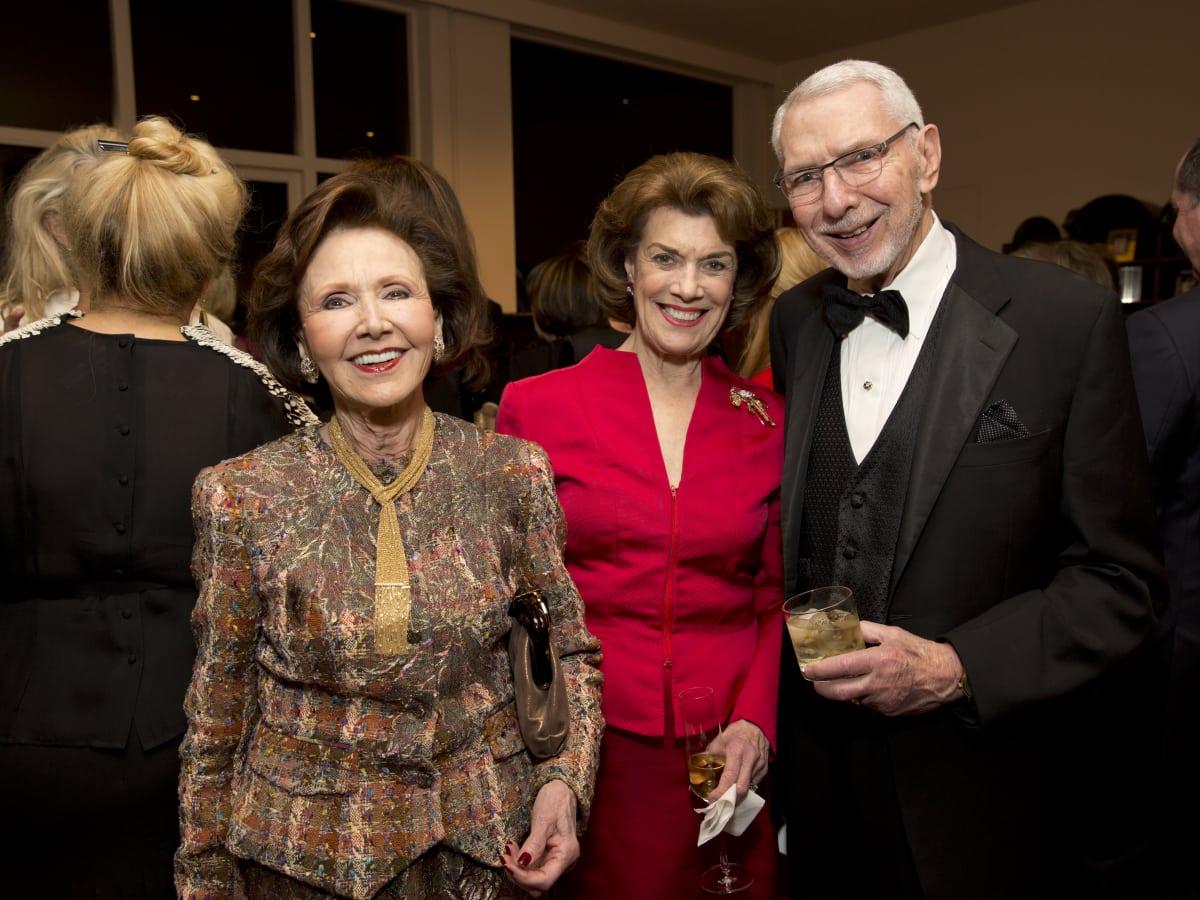 Rienzi society dinner, Feb. 2016, Cyvia Wolff, Jeanie Kilroy Wilson, Melvyn Wolff