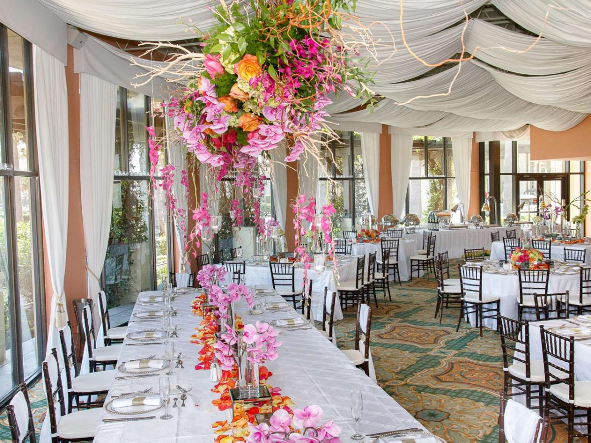 Veranda at Hotel Galvez wedding