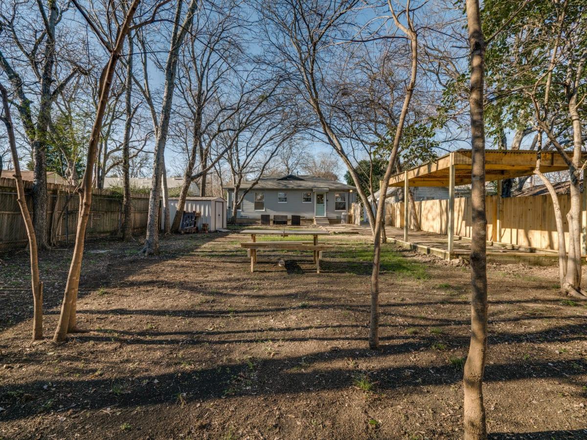 Backyard of 9014 Daytonia Ave. in Dallas