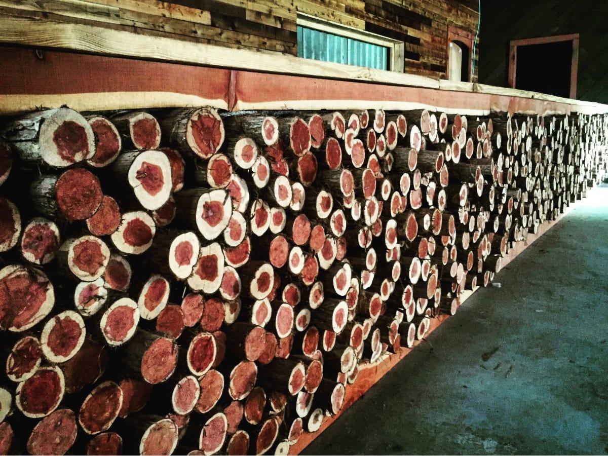 The Buzz Mill Homestead south interior cedar bar