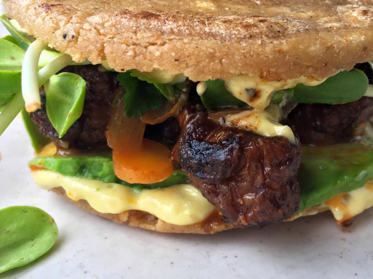 Odd Duck lunch sunchoke gordita dish