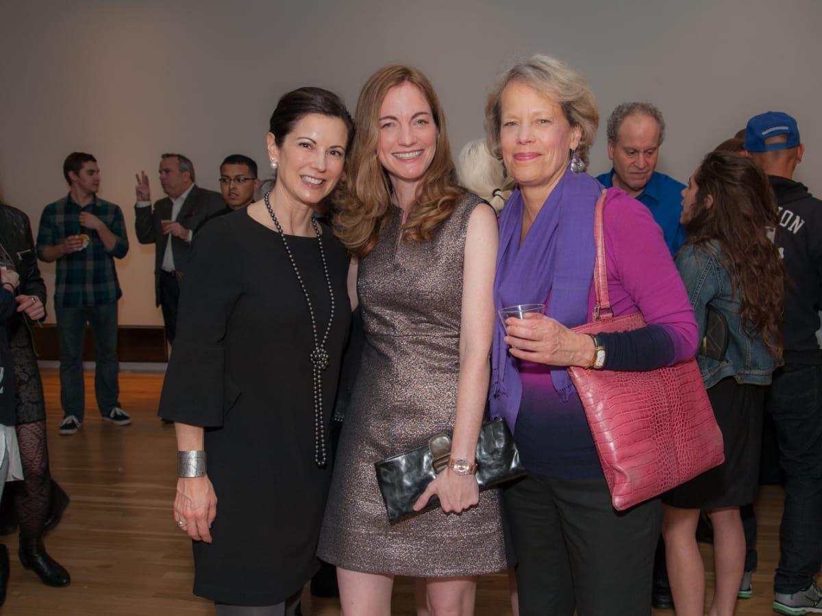 News, DiverseWorks MATCH party, Dec. 2015 Jennifer Koller, Allison Hunter, Nancy Cook