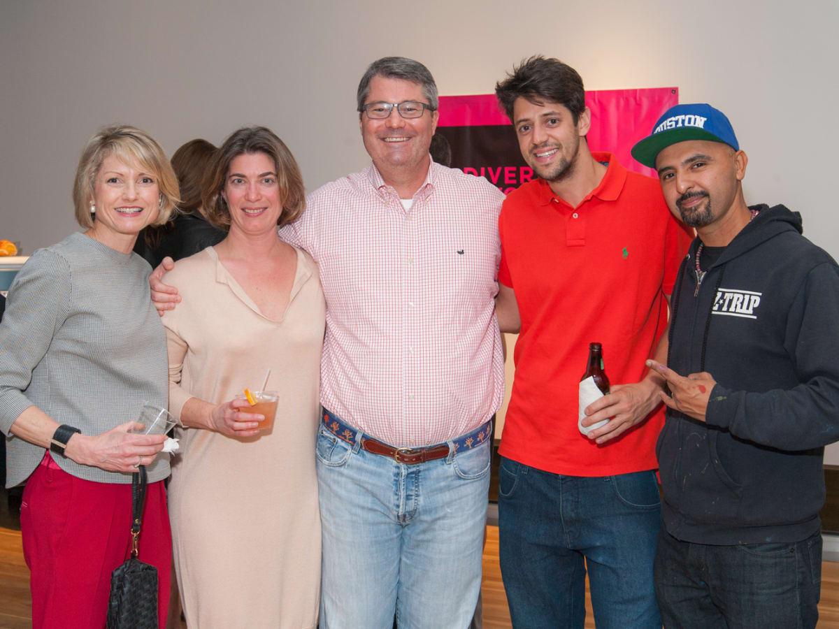 News, DiverseWorks MATCH party, Dec. 2015 Bridget Wade, Claudia Schmuckli, Patrick Wade, Fplo, Gonzo247