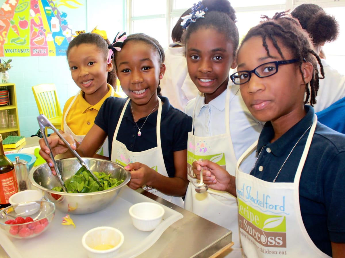 Recipe for Success children cooking from MacGregor Elementary School