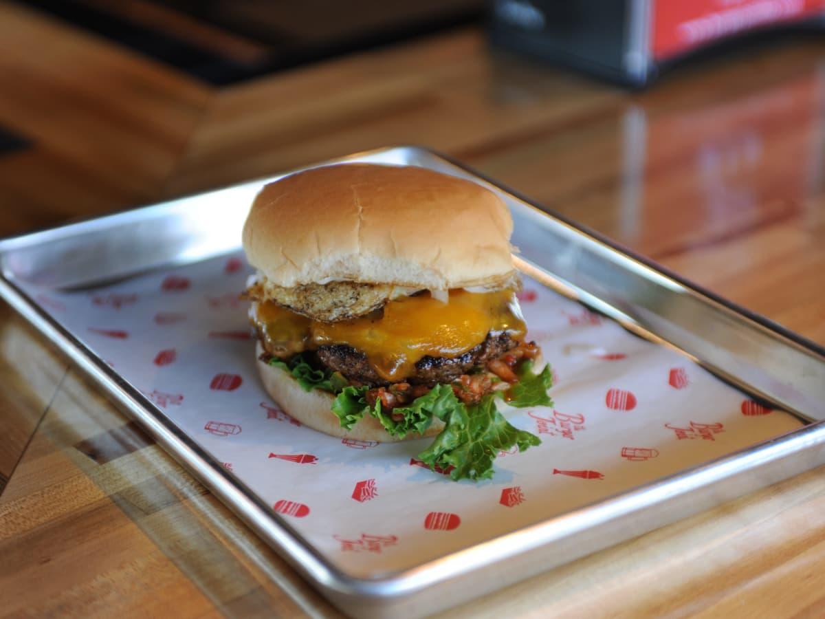 The Burger Joint kimchi burger