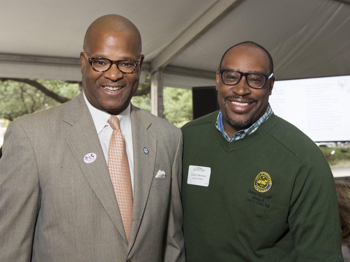 Houston Parks Board Luncheon Council Member Dwight Boykins; Council Member Larry Green