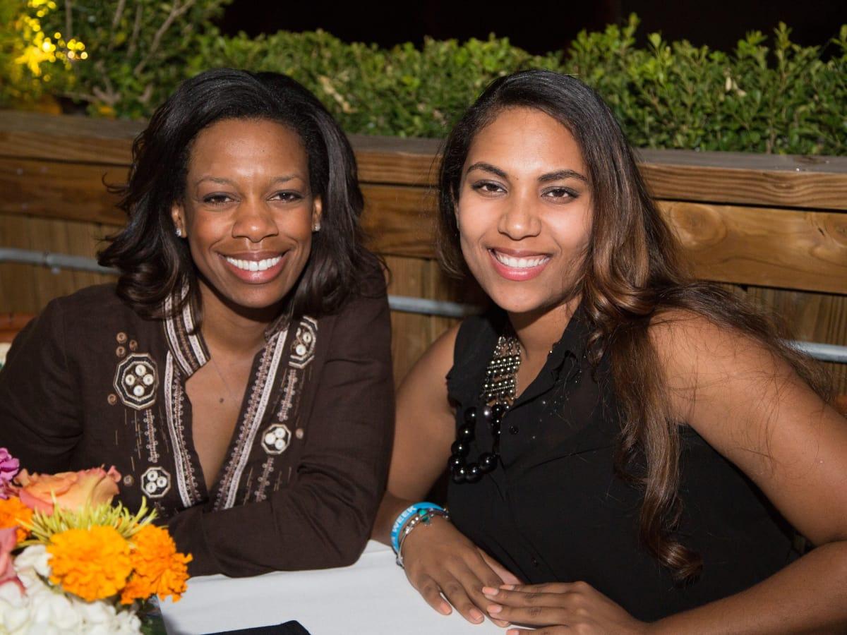 B&B Butchers terrace party Angele White and Shajine Blake
