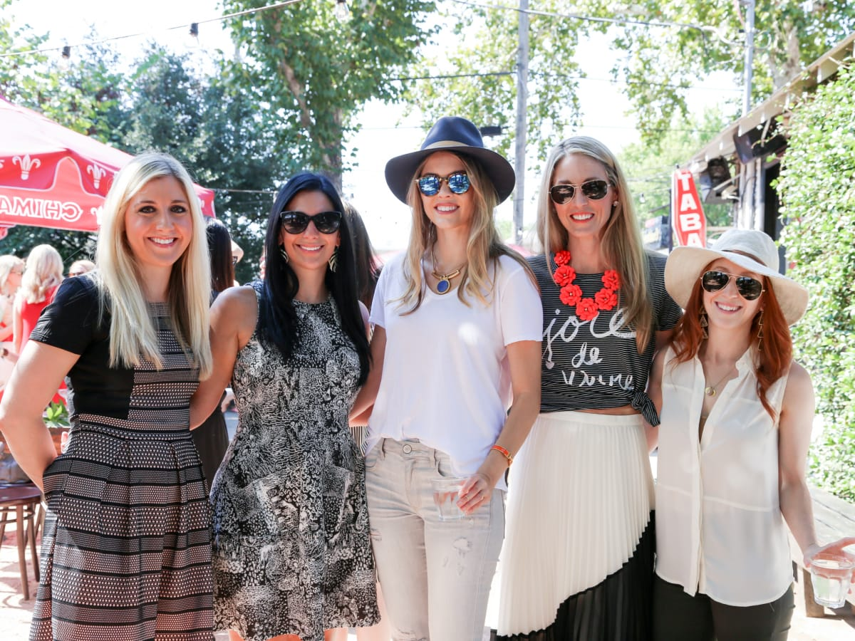 Tribeza Style Brunch 2015 at Justine's Brasserie Alison Fly Whitney Wallerstein Kathryn Ballay Cortney Zieky Alex Winkelman Zeplain